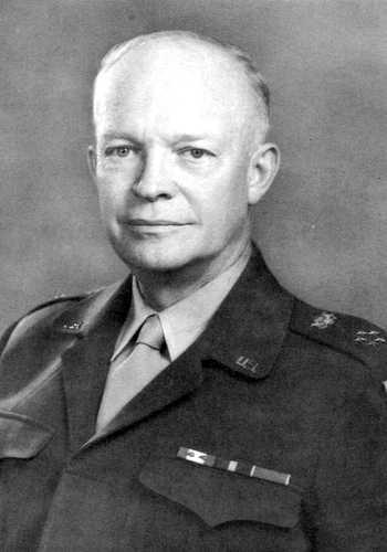 Le président des USA Dwight Eisenhower