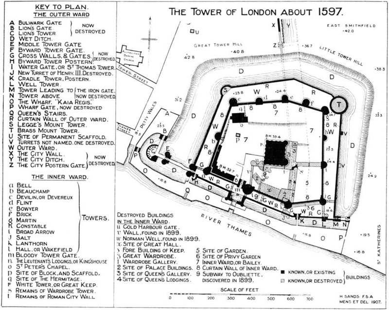 Plan du XVIe siècle