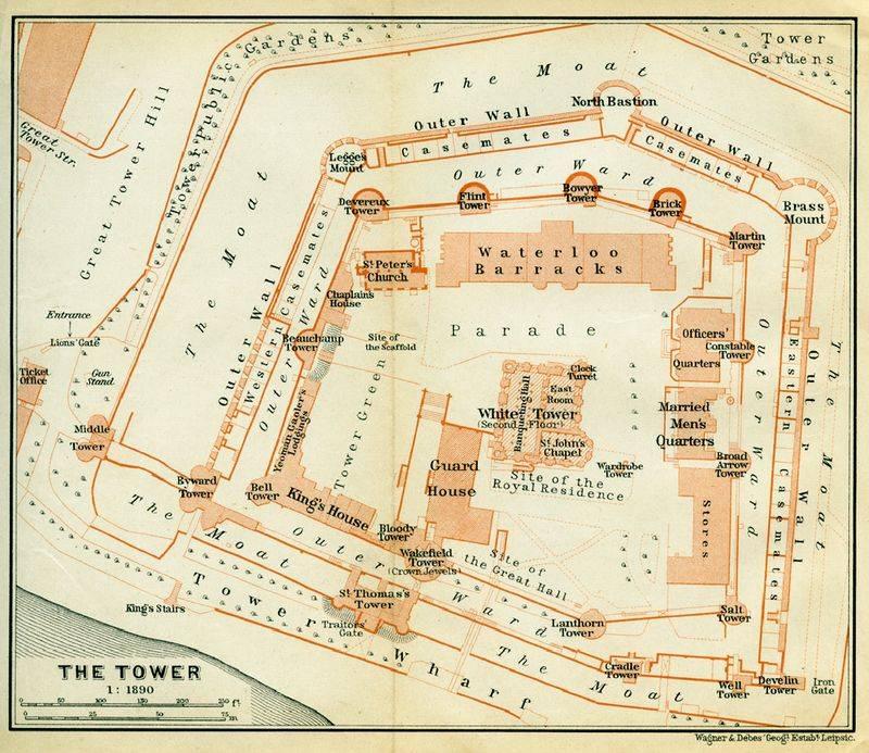 Plan de visite de 1890