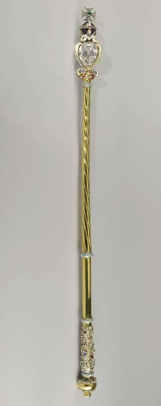 Sceptre royal à la croix